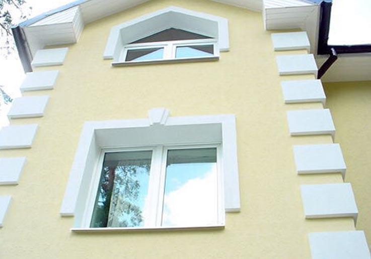 Сочетание цветов отделки фасада дома